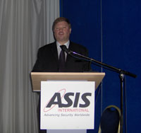 Addressing an ASIS Eurpoean Security Conference in Nice, south of France