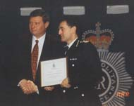 Hamish was commended by the then Assistant Commissioner, Denis O'Connor